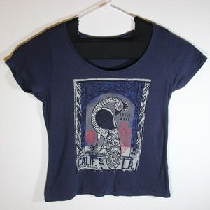 Lucky Brand Peacock Blue Graphic Tee